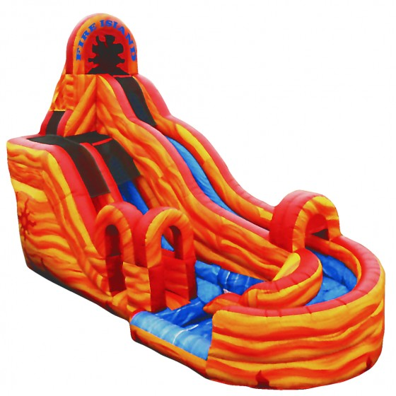 Inflatable Slide Fire Escape: Inflatable Fire Island Water Slide