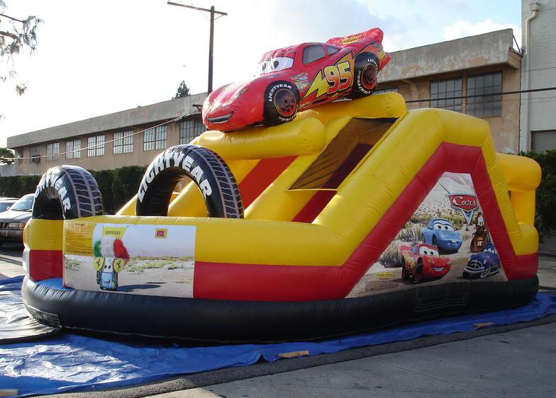 Car Sales Bounce Back From Sandy: Inflatable Disney Cars Speedway Bounce House Playcenter