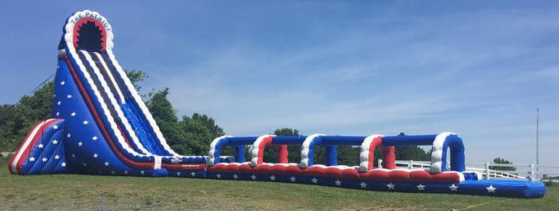 inflatable bermuda blast water slide